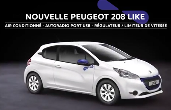 Pub Peugeot 208 like